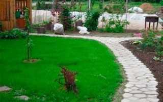 Изготовление садовых дорожек