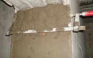 Штукатурка откосов цементным раствором или гипсовым