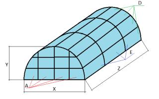 Размер дуги для теплицы