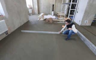 Железнение поверхности бетона цементом