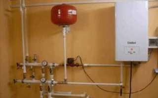 Схема отопления с напольным газовым котлом