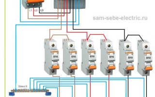 Схема 3 фазного электрощита для частного дома