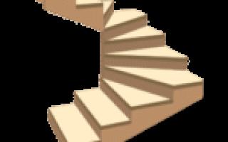 Расчет забежной лестницы на 180 градусов
