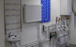 Схема отопления коттеджа с газовым котлом