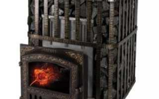 Как обложить кирпичом чугунную банную печь гефест