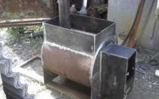 Печь железная с баком для бани конструкция