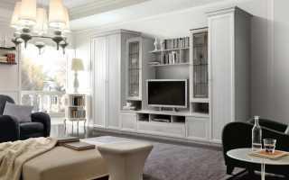 Белые стенки в гостиную фото