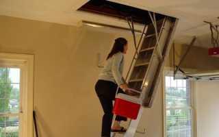 Раздвижные лестницы на чердак