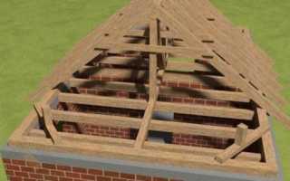 Вальмовая крыша с опорой на балки перекрытия