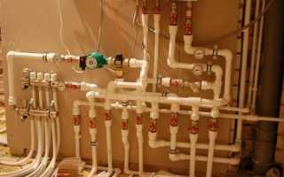 Схема проводки отопления