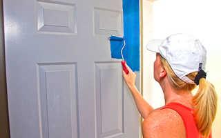 Покраска межкомнатных дверей фото