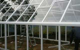 Размеры теплицы из стекла