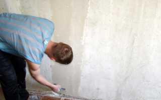 Чем обрабатывают бетонные стены перед поклейкой обоев