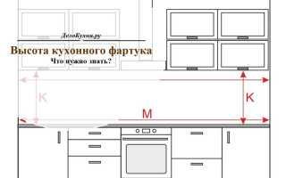 Кухонный фартук из плитки размеры