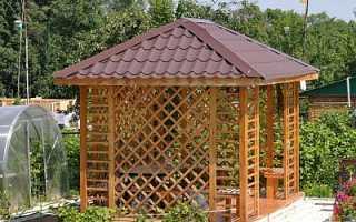 4 х скатная крыша для беседки