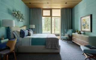 Белая мебель бирюзовые стены