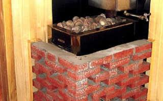 Железные банные печи обложенные кирпичом