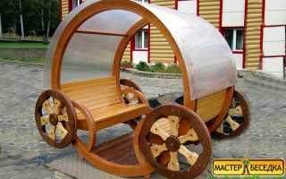 Беседка деревянная с поликарбонатом