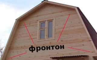 Вальмовая крыша с фронтоном