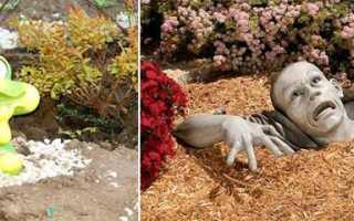 Изготовление садовых фигур из гипса