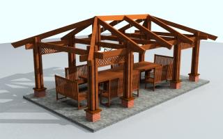Вальмовая мансардная крыша стропильная система