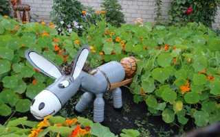 Идеи для сада из пластиковых бутылок