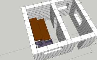 Готовый проект бани из пеноблока