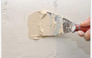 Шпаклевка окрашенных стен своими руками