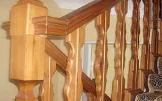Простые деревянные перила для лестницы
