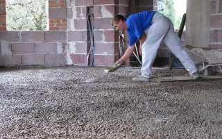 Проливка керамзита цементным раствором расход
