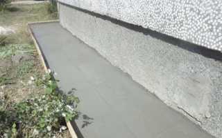 Отмостка бетонная или цементная